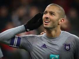 El equipo malva derrotó por tres a uno a un Charleroi. AFP