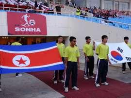Las dos Coreas se enfrentaron en suelo norcoreano por primera vez en casi 30 años. AFP/Archivo