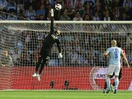 Romero aimerait quitter les 'Red Devils'. AFP