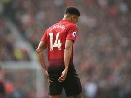Lingard prefere lutar pelo espaço no United a jogar no Arsenal. AFP