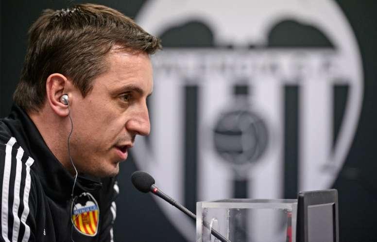 El entrenador del Valencia ha convocado a muchos filiales para la vuelta de semifinales de Copa. EFE