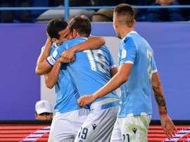 Lulic was key in Lazio winning the Italian Super Cup. AFP