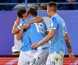 Lulic was key in Lazio winning the Italian Super Cup. AFP