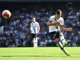 Tottenham Hotspurs Erik Lamela, seen in action during their English Premier League match against Crystal Palace, at White Hart Lane in London, on September 20, 2015