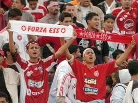 Tunisian Etoile of Sahels fans cheer on October 27, 2007
