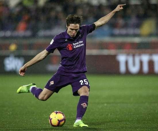 Un dirigeant de la Fiorentina assure que Chiesa va rester. AFP