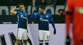 Schalke took second place with a win. AFP