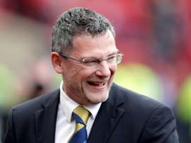 Levein was fuming with the standard of refereeing. AFP