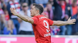 Lewandowski got a Bundesliga record in Bayern's win over Union Berlin. AFP