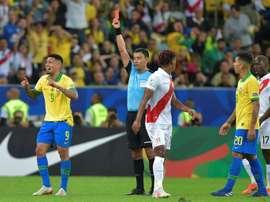 Gabriel Jesus, suspendu deux mois par la CONMEBOL. AFP