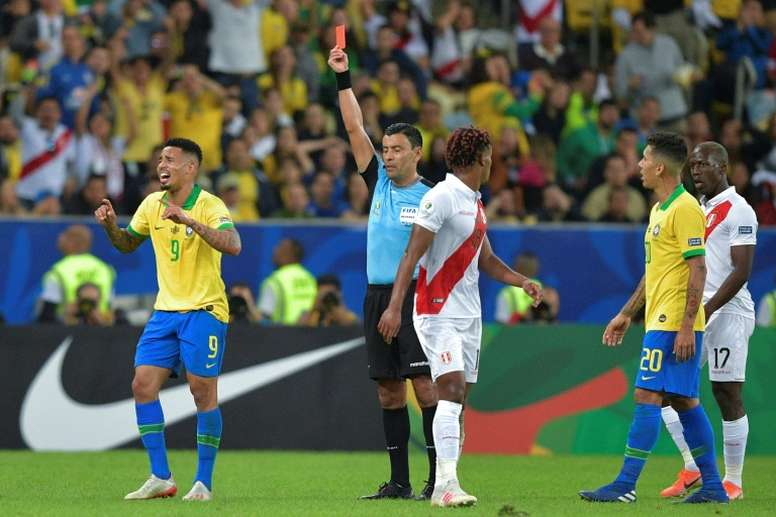 Jesus was in the thick of the action in Brazil's Copa America triumph. AFP