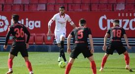 Sevilla hat-trick hero Youssef en-Nesyri impressed. AFP