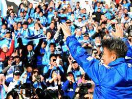 Twinkle-toed former Japan striker Kazuyoshi Miura celebrated his 50th birthday. AFP