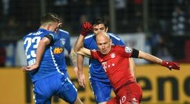 Bochum in action against Bayern Munich in 2016. AFP