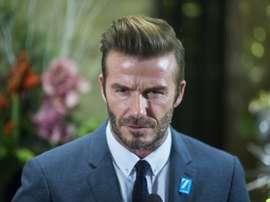 Beckham provocou revolta em  Hong Kong. AFP
