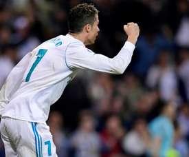 Cristiano Ronaldo marcou o golo do empate perto do fim. EFE