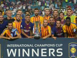Barcelona with the International Champions Cup in 2017. AFP