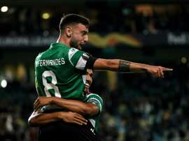 Bruno Fernandes, the key to Rodrigo's signing for Barcelona. AFP