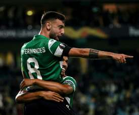 Bruno Fernandes could be heading to Manchester United. AFP