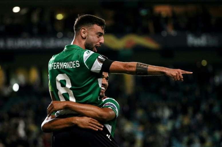 Bruno Fernandes, la llave para el fichaje de Rodrigo. AFP