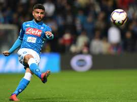 Napoli forward Lorenzo Insigne scored his eighth league goal of the season. AFP