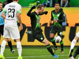 Arnold broke Gladbach's hearts with a stoppage time winner for Wolfsburg. AFP