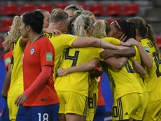 Sweden scored late on twice to defeat Chile. AFP