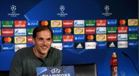 Thomas Tuchel talks after Borussia Dortmund's 8-4 win over Legia Warsaw. AFP