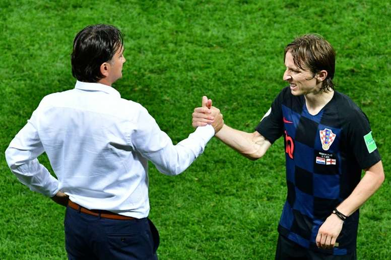 Modric claims the English press underestimated Croatia. AFP