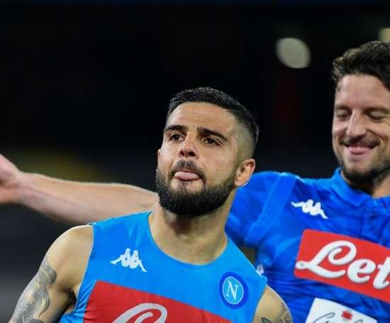 Insigne sauve le Napoli avec un but à la 98e minute. AFP