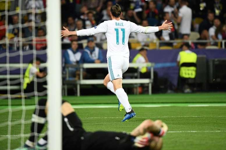 Bale habló de la actuación de Karius en la final de Kiev. AFP