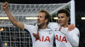 Kane became Tottenham's all-time record Premier League goalscorer against Everton. AFP