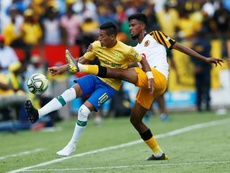 Sirino (L) scored and got sent off for Mamelodi Sundowns. AFP