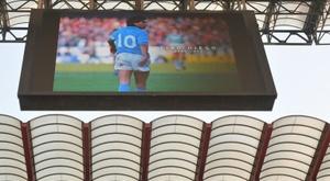 Paula Dapena a refusé de rendre hommage à Maradona. AFP
