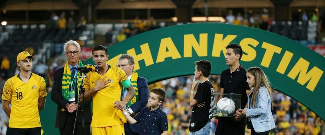 Cahill finally said goodbye to international duty. GOAL