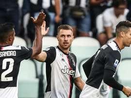 Ramsey est heureux de jouer avec Cristiano Ronaldo. AFP