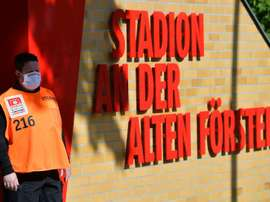 Everyone's temperature was checked ahead of Union Berlin v Bayern. AFP