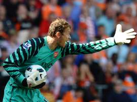 Jens Lehmann, pictured on April 10, 2011, will not be taking over the vacant director of sport role at fallen Bundesliga giants Nuremberg