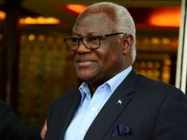 Sierra Leones President Ernest Bai Koroma, pictured on October 28, 2015, reinstated the Sierra Leone Football Association after two hours of crisis talks with officials from the National Sports Council