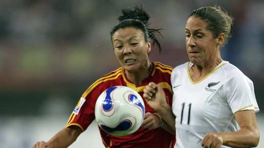 Title Original: Chinas Zhang Ouying (left) has died aged 43 from cancer. AFP