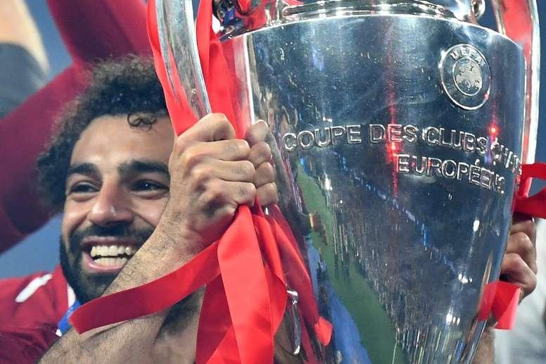 Salah respondeu a Guardiola. AFP