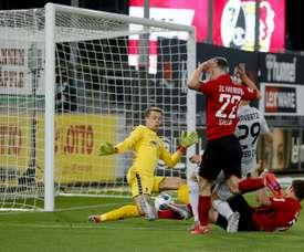 Kai Havertz made Bundesliga history with his goal away to Freiburg. AFP
