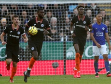 Antonio Rudiger (2L) was key to Chelsea getting a point. AFP