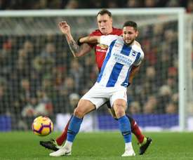 Andone moves to Turkey after a lack of first team action at Brighton. AFP