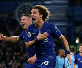 Luiz helped inflict City's first defeat of the season. AFP