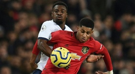 El Manchester United quiere fichar para suplir a Rashford. AFP