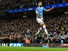 Mahrez scored the winner for Man City over Chelsea. AFP