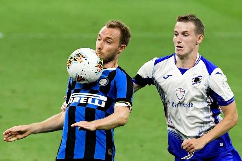 Eriksen dejó un recado para el entrenador del Inter. AFP