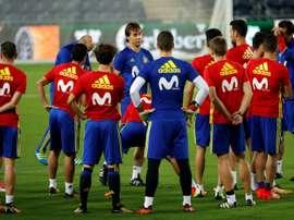 Lopetegui et ses doutes pour la liste de convocation de la Coupe du monde. AFP