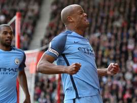 Vincent Kompays remains Manchester City captain this season. AFP